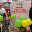 Shoppers and staff at Tesco''s Blue Boar Lane store donated about two van loads of food to Norwich f
