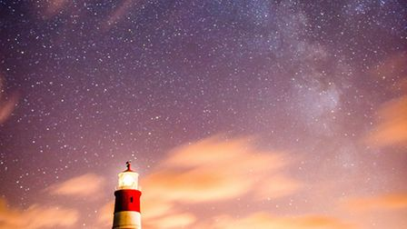 The Milky Way over Happisburgh lighthouse. Picture by Andy Smith - Twitter: @ajsuk0