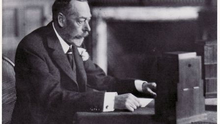 King George V delivers his first Christmas speech from Sandringham.