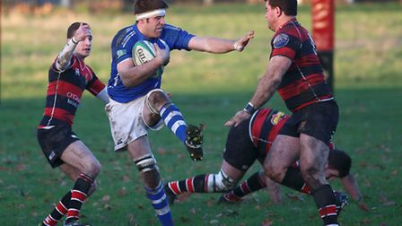 Action from Campion v Diss. Picture: John Bulloch