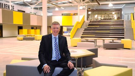 Principal Alex Hayes in the forum area of the UTC. Picture: DENISE BRADLEY