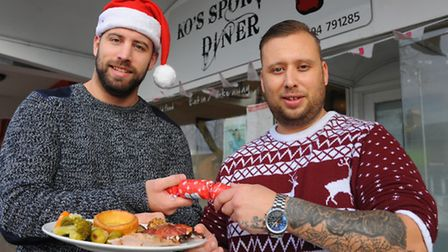 Sam and Ben Sexton hold a Christmas dinner for anyone needing one at their KO Sports Diner in Hall R