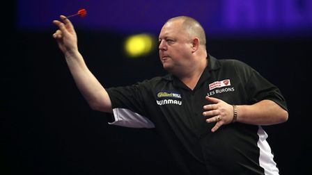 Mervyn King during his match against Max Hopp during the William Hill World Darts Championship at Al