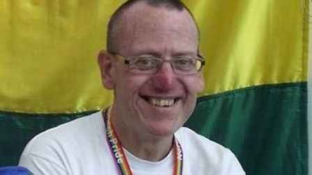Dean Simons, chairman of Norwich Pride. Picture: Supplied.