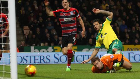 Bradley Johnson scores the opener against Huddersfield Town at the weekend. Picture by Paul Chestert
