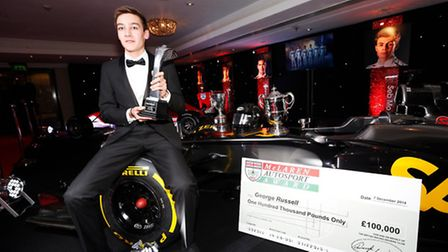 George Russell wins the McLaren Autosport BRDC Young Driver Award.