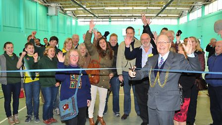 Wensum Lodge Sports Hall is officially re-opened by John Jennings, Sheriff of Norwich, after communi