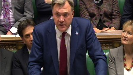Shadow chancellor Ed Balls responds to Chancellor of the Exchequer George Osborne following the Autu