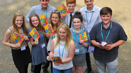 The 2014 Young Norfolk Daily Press team all ready for the Young Norfolk Arts Festival. Photo: Steve