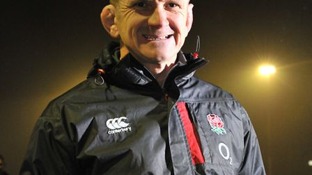 England rugby coach Graham Rowntree takes a training session at Norwich Rugby Club .Picture by Simon