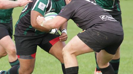 Prop Tim Weber misses North Walsham's game because of injury. Picture: Hywel Jones