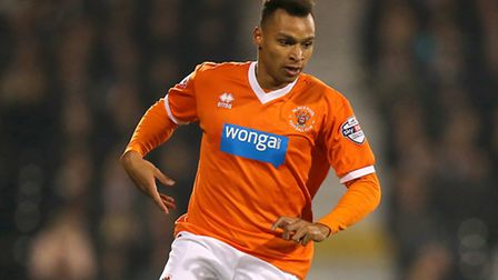 Jacob Murphy struck a superb free kick in Blackpool's 1-1 Championship draw against Bolton. Picture: