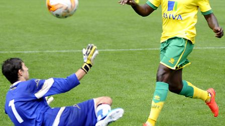 Norwich City's Jamar Loza will be on duty in Wednesday's development home game against Liverpool's U