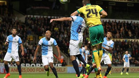 Norwich City defender Ryan Bennett is pushing for a recall against Wigan. Picture by Paul Chesterton