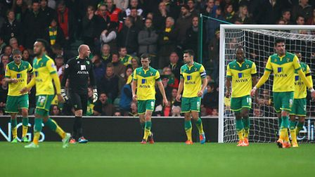 Norwich City 's squad look weighed down by expectation. Picture: Paul Chesterton/Focus Images