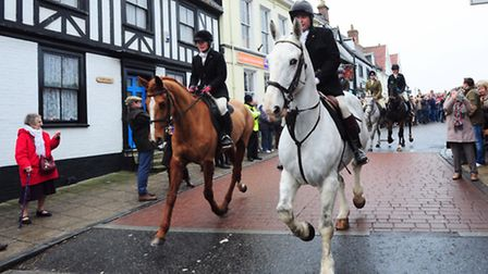 Dunston Harriers stage the traditional Wymondham Boxing Day hunt, leaving from the Market Place.PHOT