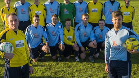 The re-formed Lyng Football team. Picture: Matthew Usher.