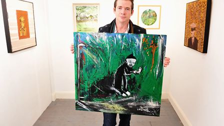 Artist Dan McGrath is auctioning off a painting to raise money for the Herring House Trust at Christ