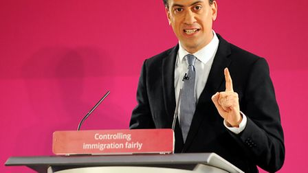 Labour leader Ed Miliband in Great Yarmouth to give a speech on immigration.Picture: James Bass