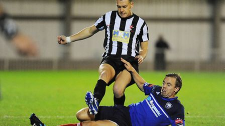 Dereham Town's Luke Hannant is back from university and available for selection over Christmas. Pict
