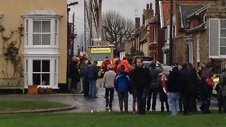 Emergency services were called to a person collapsed in a flat in Park Lane, Southwold. Picture: Sha