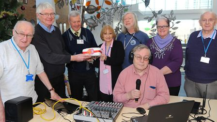 The volunteers at the NNUH celebrate their 40th anniversary. Picture by: Sonya Duncan