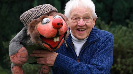 Costessey ventriloquist Brian Chamberlain who life has been chartered in a book written by friend De