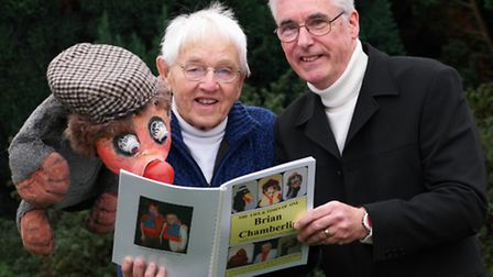 Costessey ventriloquist Brian Chamberlin who has had his life story told in a book by friend Derek F