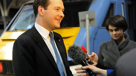 George Osborne at the Norwich Railway Station. Picture: Denise Bradley