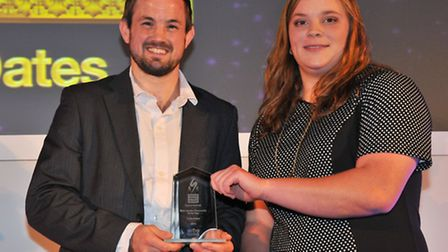 Norfolk judo star Colin Oates, pictured receiving the Male Sports Personality of the Year award at t