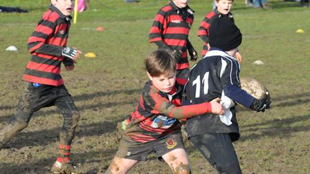 Wymondham Rugby Club players currently have to play on muddy pitches due to poor drainage
