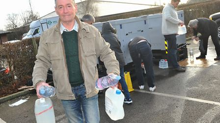 Water supplies are made available by bottle and emergency water boxes at Poringland Community Centre