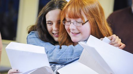 GCSE Results Day 2014 - Pupils from Northgate High School get their results. Picture: Matthew Usher.