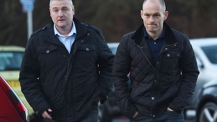 Hamilton player/manager Alex Neil (right) and his assistant Frankie McAvoy. Picture: SNS Group