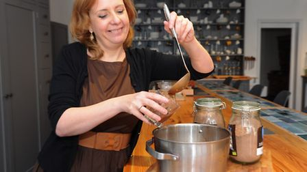 Chocolate expert Lynn Lockwood who will be conduction monthly chocolate tasting evenings in Harlesto