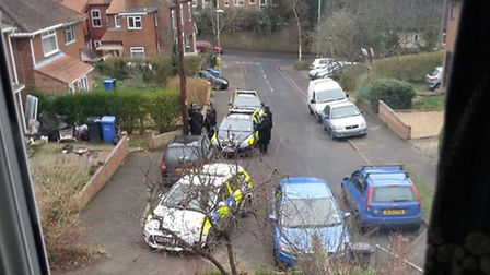 Armed response unit at Whitwell Road.