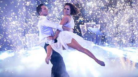 Pasha Kovalev and Caroline Flack on the live show of the BBC programme Strictly Come Dancing. Photo: