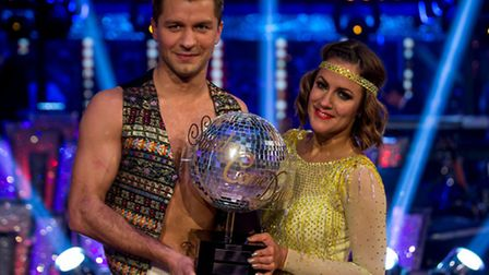 Pasha Kovalev and Caroline Flack win BBC's Strictly Come Dancing. Photo: Guy Levy.