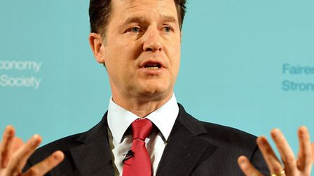The Leader of the Liberal Democrats Nick Clegg John Stillwell/PA Wire