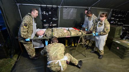 The hospital ready for its first @casualty'. Picture: Cpl Andy Reddy.