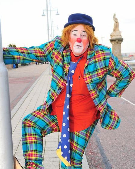 Clowns from around the UK gather in Lowestoft for a week long clown convention.Smartii Pants (Ian Wi