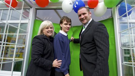 Rugby star Phil Vickery opens the new conservatory at Clement Lodge at Sidestrand Hall School with i