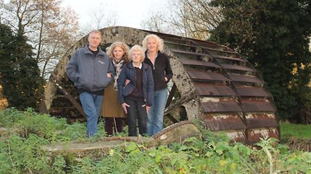 Heritage Lottery Fund has awarded Narborough Bone Mill a grant of £92,200. From left, Fred Munford,