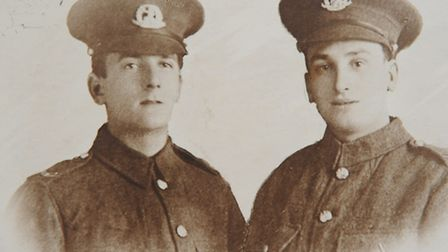 Ernest Murton, left, and his younger brother Bertie, who both died on the same day in World War One