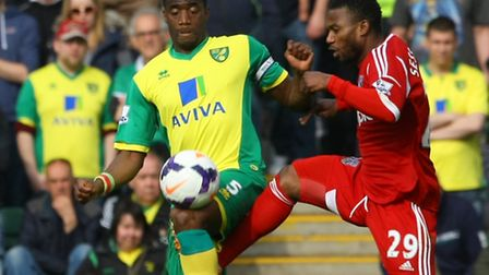 Norwich City defender Sebastien Bassong's last first-team appearance for Norwich City came in the Pr