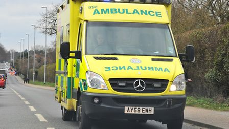 East of England Ambulance Trust were called to a crash in Norwich today. PHOTO: SIMON FINLAY