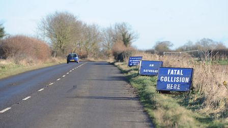 Police are appealing for witnesses following a fatal collision on the B1147 at Dereham. Picture: Ian