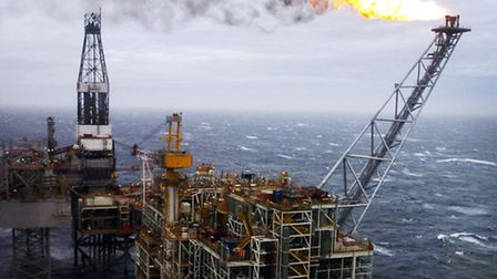 An oil rig in the North Sea. PRESS ASSOCIATION Photo.