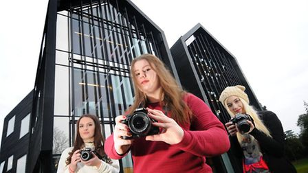 City College students shortlisted for a national photography award, left to right, Emily Witham, 16,