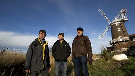 Members of the Old Cley Harbour Project who've been given planning permission to dredge the old harb